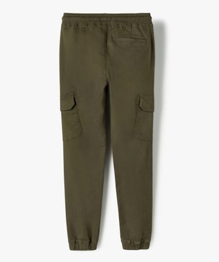 Pantalon garçon coupe cargo vue4 - GEMO (ENFANT) - GEMO