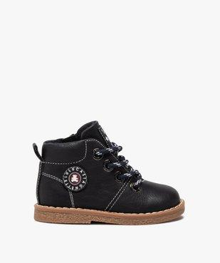 Boots bébé garçon à lacets et zip – LuluCastagnette vue1 - LULU CASTAGNETT - GEMO