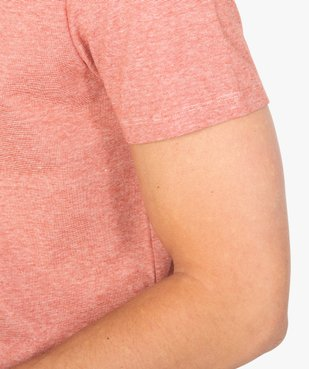 Tee-shirt homme à manches courtes et fines rayures vue2 - GEMO (HOMME) - GEMO