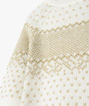 Robe pull fille en maille jacquard dorée vue2 - Nikesneakers (ENFANT) - Nikesneakers