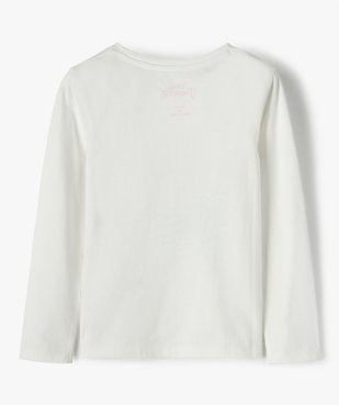 Tee-shirt fille à manches longues avec motif pailleté - Disney vue3 - DISNEY DTR - GEMO