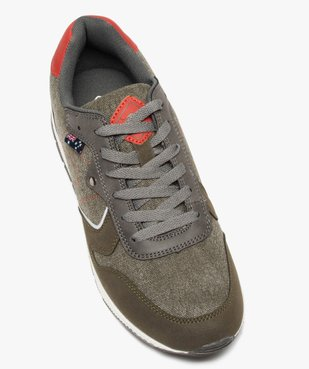 Baskets homme jeanswear à lacets - Roadsign vue5 - ROADSIGN - GEMO