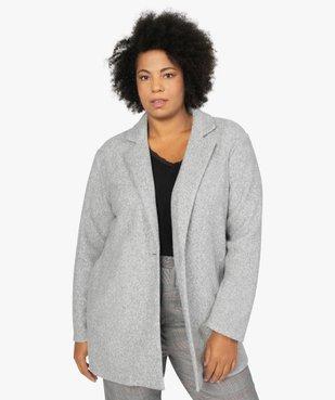 Manteau femme en maille polaire avec grand col vue1 - GEMO (G TAILLE) - GEMO