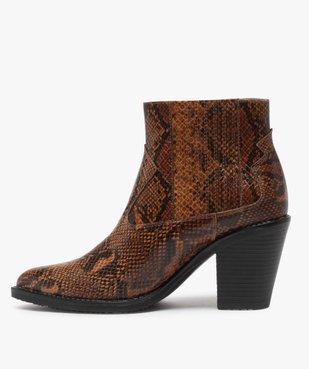 Boots femme style santiag à col élastiqué et bout pointu vue3 - Nikesneakers(URBAIN) - Nikesneakers