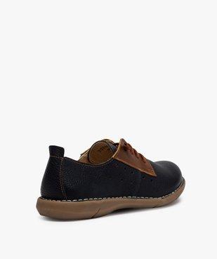 Derbies femme confort bicolores à lacets élastiques vue4 - Nikesneakers (CASUAL) - Nikesneakers