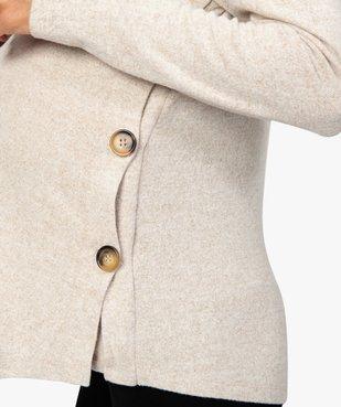 Pull de grossesse et allaitement en maille chinée souple et douce vue2 - GEMO (MATER) - GEMO