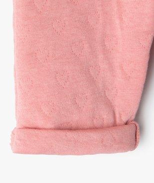Pantalon bébé fille en maille effet matelassé vue2 - GEMO(BB COUCHE) - GEMO