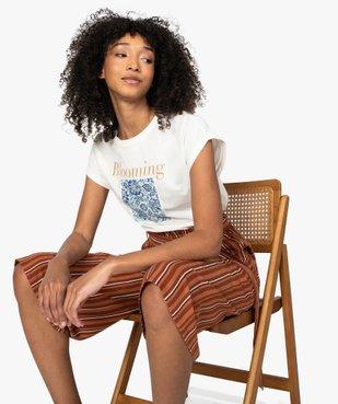 Tee-shirt femme à manches courtes avec motif fleuri vue5 - Nikesneakers C4G FEMME - Nikesneakers