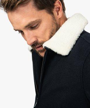 Blouson homme  laine avec col   amovible vue2 - GEMO (HOMME) - GEMO