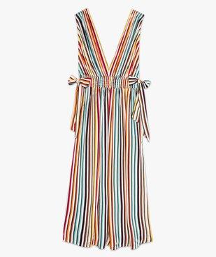 Robe femme longue spécial plage avec décolleté en V vue4 - GEMO (PLAGE) - GEMO