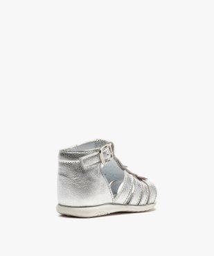 Sandales premiers pas bébé fille avec franges métallisées vue4 - Nikesneakers(BEBE DEBT) - Nikesneakers