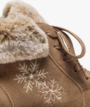 Boots fille rembourrées en suédine unie à col duveteux vue6 - Nikesneakers (ENFANT) - Nikesneakers
