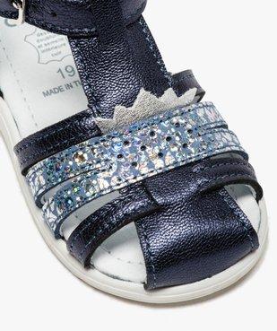 Sandales premiers pas bébé fille à reflets métallisés vue6 - Nikesneakers(BEBE DEBT) - Nikesneakers