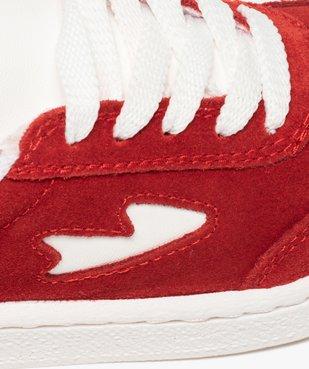 Tennis enfant bicolores à lacets et zip vue6 - GEMO (ENFANT) - GEMO