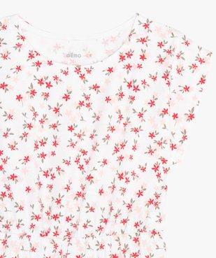 Robe fille à motifs fleuris vue2 - GEMO (ENFANT) - GEMO