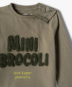 Tee-shirt bébé garçon à manches longues avec motifs (lot de 2) vue3 - GEMO(BEBE DEBT) - GEMO