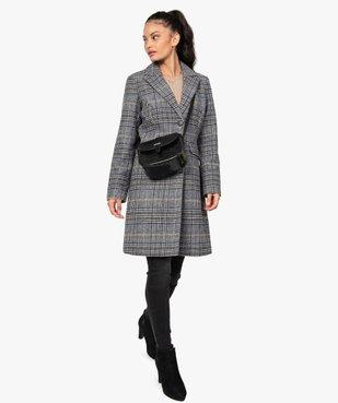 Manteau femme mi-long à col tailleur vue5 - GEMO(FEMME PAP) - GEMO
