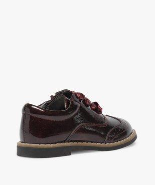 Derbies fille vernis avec lacets rubans et zip vue4 - Nikesneakers (ENFANT) - Nikesneakers