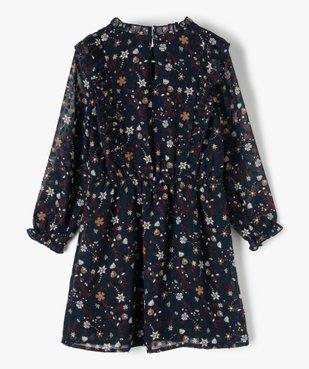Robe fille en voile avec motifs fleuris et petits volants vue4 - Nikesneakers (ENFANT) - Nikesneakers