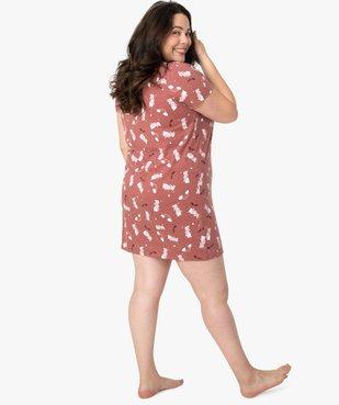 Chemise de nuit femme à manches courtes avec motif vue3 - Nikesneakers(HOMWR FEM) - Nikesneakers