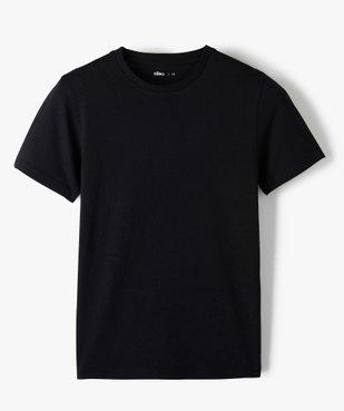 Tee-shirt garçon à manches courtes uni  vue1 - GEMO C4G GARCON - GEMO