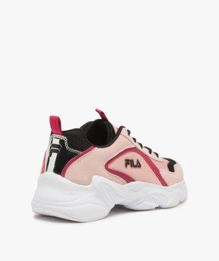 Baskets femme à semelle épaisse look dad shoes - FILA avec détail argenté au talon vue4 - FILA - GEMO