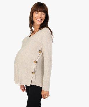Pull de grossesse et allaitement en maille chinée souple et douce vue1 - GEMO (MATER) - GEMO