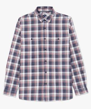 Chemise homme à carreaux et poches poitrine vue4 - GEMO (HOMME) - GEMO