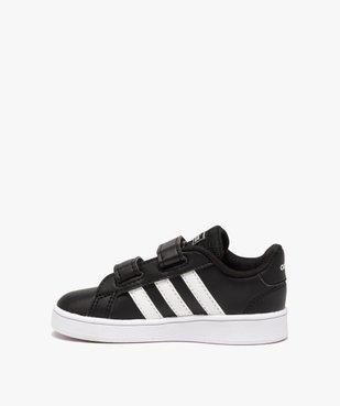 Baskets bébé bicolores à scratch – Adidas Grand Court vue3 - ADIDAS - GEMO