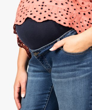 Jean de grossesse coupe slim avec bandeau taille haute - Maternité grande taille vue2 - GEMO (MATER) - GEMO