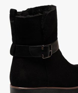 Boots femme à semelle plateforme en suédine unie vue6 - GEMO(URBAIN) - GEMO