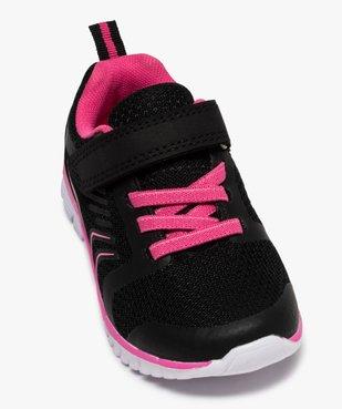 Baskets fille bicolores à lacets élastiques et scratch vue5 - Nikesneakers (ENFANT) - Nikesneakers