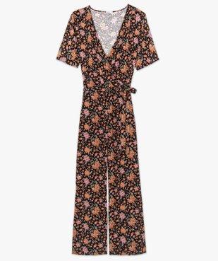 Combinaison pantalon femme à motifs fleuris et haut cache-cœur  vue4 - GEMO (G TAILLE) - GEMO