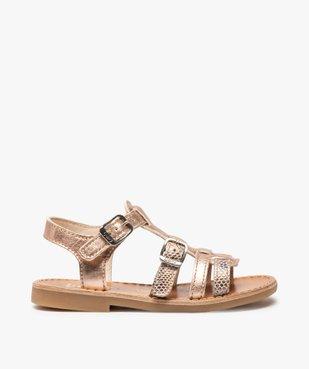 Sandales fille à brides métallisées ajustables - Bopy vue1 - BOPY - GEMO