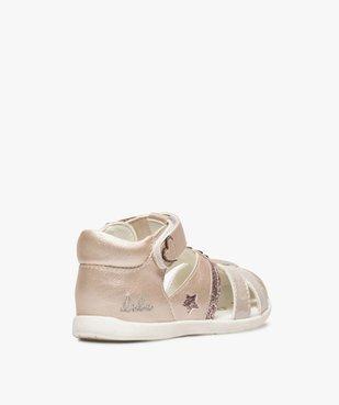 Sandales bébé fille pailletées à scratch - Lulu Castagnette vue4 - LULU CASTAGNETT - GEMO