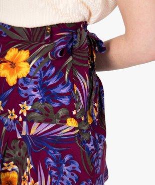 Jupe-short femme fluide motif fleuri vue3 - GEMO(FEMME PAP) - GEMO