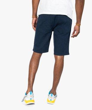 Bermuda homme en toile de coton épaisse coupe jean vue4 - GEMO (HOMME) - GEMO
