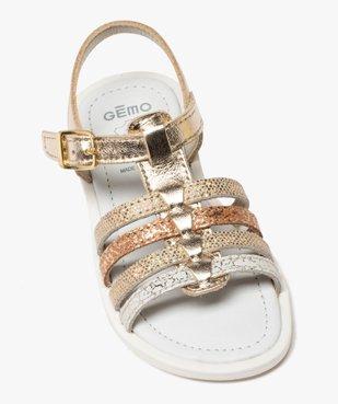 Sandales fille à brides multiples métallisées vue5 - GEMO (ENFANT) - GEMO