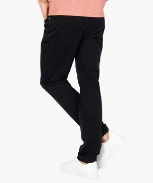 Pantalon homme straight uni en coton stretch vue3 - Nikesneakers (HOMME) - Nikesneakers