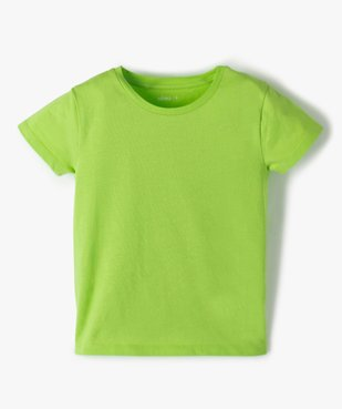 Tee-shirt fille uni à manches courtes  vue1 - GEMO C4G FILLE - GEMO
