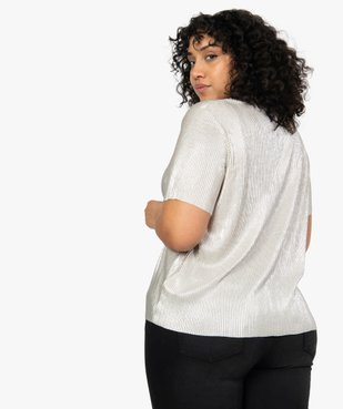 Tee-shirt femme plissé en Lurex vue3 - Nikesneakers (G TAILLE) - Nikesneakers