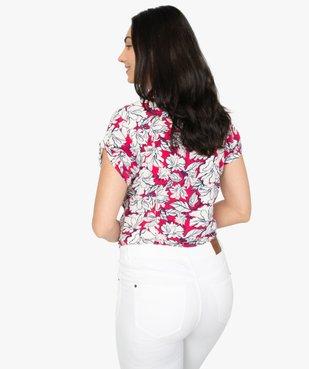 Chemise femme à manches courtes imprimée vue3 - GEMO(FEMME PAP) - GEMO