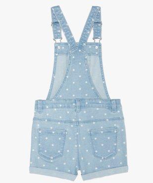 Salopette fille en jean coupe courte vue4 - GEMO (ENFANT) - GEMO