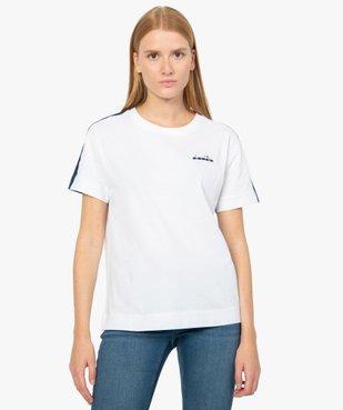 Tee-shirt femme à manches courtes en coton bio - Diadora vue1 - DIADORA - GEMO
