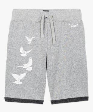 Short décontracté imprimé colombes - Kwell vue4 - KWELL - GEMO