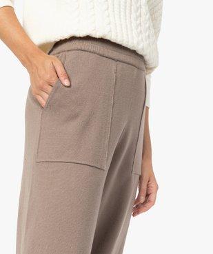 Pantalon femme en maille resserré aux chevilles vue2 - GEMO(FEMME PAP) - GEMO
