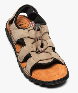 Sandales homme tout terrain dessus cuir - Roadsign vue5 - ROADSIGN - GEMO