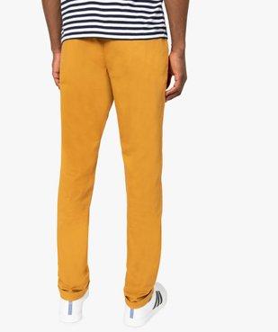 Pantalon homme chino coupe slim vue3 - GEMO (HOMME) - GEMO