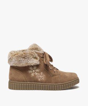 Boots fille rembourrées en suédine unie à col duveteux vue1 - Nikesneakers (ENFANT) - Nikesneakers