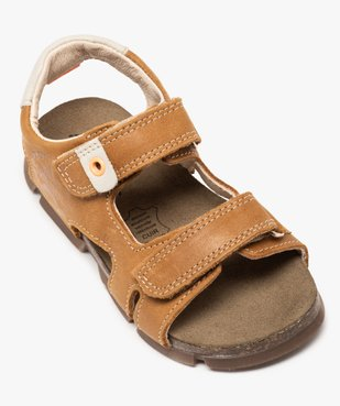 Sandales garçon tout terrain en cuir à scratchs - Bopy vue5 - BOPY - Nikesneakers